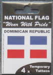 Dominican Republic Country Flag Tattoos.